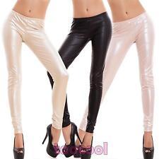 Leggings donna pantaloni effetto pelle leggins liquid fuseaux aderenti CC-669-1