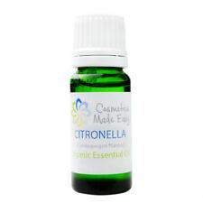 Organic Citronella Pure Essential Oil (Cymbopogon Nardus)  10ml, 30ml, 100ml