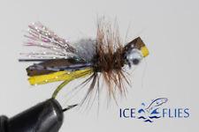 ICE FLIES, Foam Hooper. Bubbas hog caller, Hooper tan.  Size 8  and 10  (2 pack)