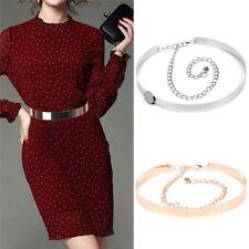 Women Metal Waist Wide Belt Mirror Waistband Adjustable Chains Wideth 2-3.5cm LJ