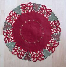 WEIHNACHTEN Tischdeckchen Tischdecke Deckchen Weihnachtsdeckchen 30cm rund NEU**