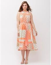 LANE BRYANT Inside Tie Front Dress Womens Plus 18 22 26 28 Versatile 2x 3x 4x