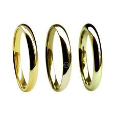 2mm 9 ct Oro Amarillo Corte Confort Alianzas 375 GB HM M Pesados & X Banda