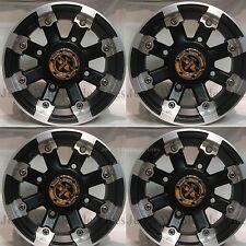 """4) 12"""" Rims Wheels for 2008-2013 Polaris RZR RZR-S RG IRS Type 393 MBML Aluminum"""