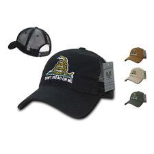 Don't Tread On Me Gadsden Flag Patriotic USA Trucker Cotton Baseball Caps Hats