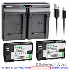 Kastar Battery Slim Dual Charger for Canon LP-E6 LP-E6N LC-E6 & Canon EOS 60Da