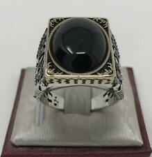 Women Gorgoeus 925 Silver Filled Rings Balck Sapphire wedding Rings Size 6-10