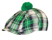 Ireland Clover Plaid Caddie Hat Green Shamrock St. Patrick's 9858