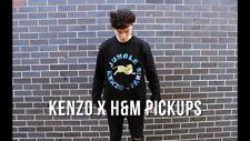 KENZO H&M BLACK JUNGLE SWEATSHIRT JUMPER SIZE LARGE