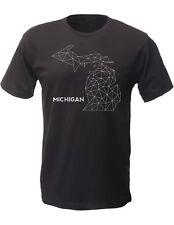 (0082) Michigan Wire Map T-shirt, Detroit T-Shirts LLC, DETROIT REBELS