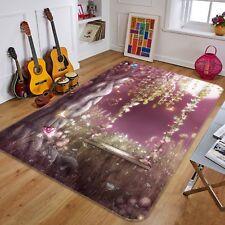 3d Jungle Moon Leaves 6 Non Slip Rug Mat Room Mat Quality Elegant Photo Carpet UK