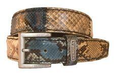 NUEVO Sendra Cinturón De Cuero Pitón piel de serpiente Cinturón Marrón