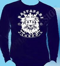 Lion Of Judah Long Sleeve T Shirt Rasta Rastafari Reggae Bob Marley Jah Zion