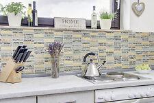 Küchenrückwand Fliesenspiegel Naturstein Glas mix grau gold Wand Art. 87-29