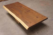 Tischplatte Massivholzplatte Eiche 40mm DL naturbelassene Baumkante 2-seitig roh