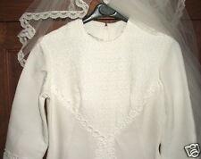 Superbe robe et voile de mariée - linge ancien