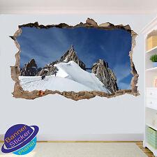 Alpes MONTBLANC Pic Midi 3D Smashed Autocollant Mural Art Chambre Décoration Autocollant Murale XD0