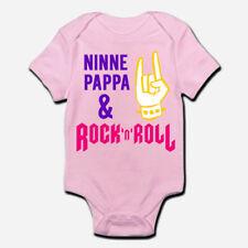 Body pagliaccetto neonato rosa bimba bebè Ninne pappa e rock'n'roll