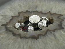 STEEL Plug crystalside tipo Piercing Orecchino pircing orecchio zirkoniakristalle epossidiche