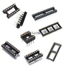 5/10PCS 8/14/16/18/28/32/40Pin SIP Round IC Sockets Adaptor Solder Gold Plated