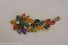 Cabeza De Damas Diamante Rhinestone bridalprom Tiara Pelo clawcomb Bisutería