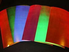 "PLASMA UV 12"" x 8"" 1 Sheet TRU UV Flasher Fishing Lure Tape in 6 Colors"