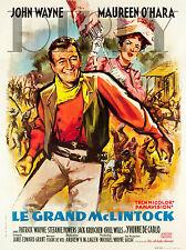 PLAQUE ALU DECO AFFICHE CINEMA LE GRAND MCLINTOCK WAYNE OHARA 1963