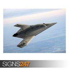 NORTHROP grummans X-47B Pegasus (AC216) dell'Esercito Poster-Poster Arte Stampa A1 A2 A3