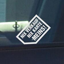 weiss wasserfester Aufkleber Nix Verkauf werbung autoscheibe auto INNEN KLEBEND