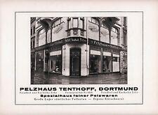 Pelzhaus Tenthoff Dortmund Orig. Reklame 1925 Kuckelke Ecke Pelz Kürschner