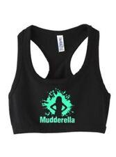 TOUGH MUDDER MUDDERELLA WOMENS GIRLS SPORTS BRA CAMI TANK TOP T SHIRT BLACK T26