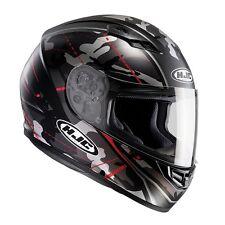 HJC CS-15 Songtan CS 15 Black Full Face Motorcycle/Motorbike Helmet-Black/Red ZE