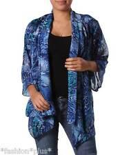 Plus Size Top Shrug Cardi Shirt Open Front  Animal Print Floral NWT 14 16 18