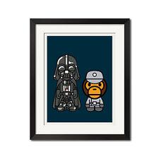 A Bathing Ape x Star Wars Darth Vader x Baby Milo Empire Commander Bape Poster
