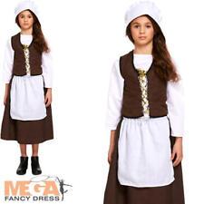 Victorian Poor Maid Girls Fancy Dress World Book Day Childrens Childs Costume
