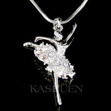 BALLERINA made with Swarovski Crystal The Nutcracker Swan Ballet Dancer Necklace