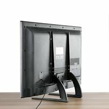 Universal Modern LCD Flat Screen TV Table Top Mount Stand Black Base Pedestal US