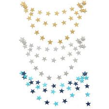 4M GRIS Guirnalda Colgante Papel Estrella para navidad bodas fiesta