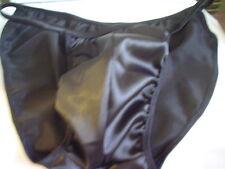 Mens Satin Bikini Brief Open Side Pouched Tanga s m l or xl Custom Made in USA
