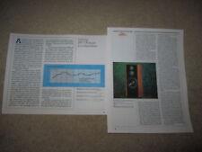 Infinity Rs-7 Kappa Speaker Review, 2 pgs, 1987, Specs