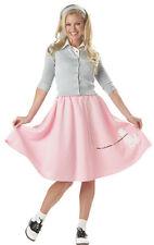 1950's Poodle Skirt Soft Fleece Elastic Waist Full Circle Costume Skirt
