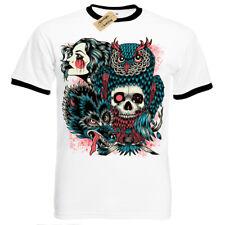 Wild Native T-shirt Donna Tribale Teschio da donna con scollo a V