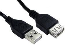 High Speed USB 2.0 Extension Cable SHIELDED M/F A/A 12cm 25cm 50cm 1m 2m 3m & 5m