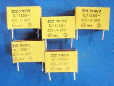 KONDENSATOR 100nF (0,1uF)400V ITT PMP  gelb 5x   14182