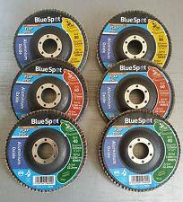 """115mm 4.5 """"ALLUMINIO Ossido di Zirconio Flap Disc Set 40 60 80 Grit metallo inox legno"""