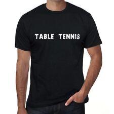 table tennis Homme T-shirt Noir Cadeau D'anniversaire 00546