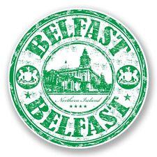 2 x Belfast Northern Ireland Vinyl Sticker Laptop Travel Luggage Car #5964