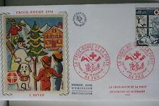 ENVELOPPE PREMIER JOUR SOIE 1974 CROIX-ROUGE