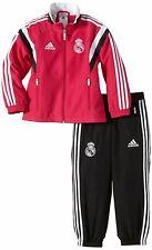 adidas Real Madrid Presentation Tracksuit Set Infants Pink/Black Football Soccer