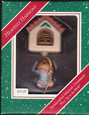 1987 Hallmark Heavenly Harmony Angel Musical Plays Joy to the World Ornament